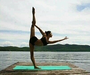 yoga, healthy, and fit image