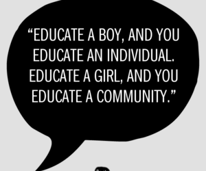 education, girls, and quotes image