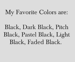 black, color, and quotes image