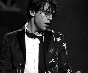 black and white, concert, and mika image