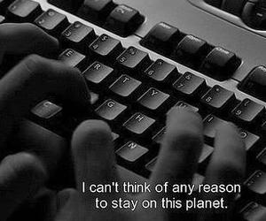black and white, depression, and sad image