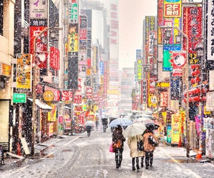 japan, snow, and city image