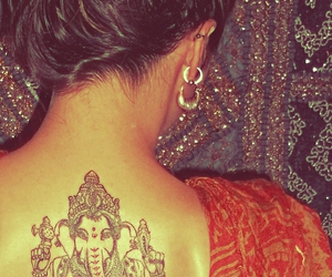 tattoo, india, and indian image