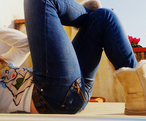 jeans, uggs, and boots image