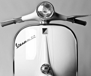 Vespa and white image