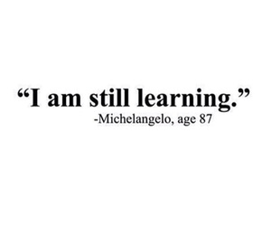 quote, learn, and learning image