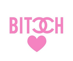 bitch, pink, and chanel image