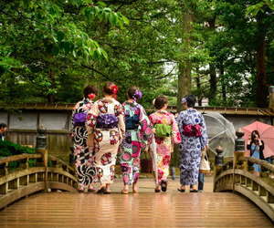 colors, japan, and kimono image