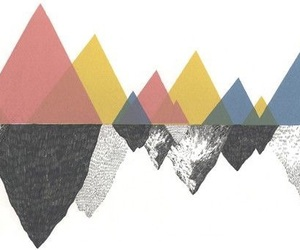 art, triangle, and mountains image