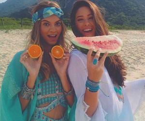 beach, boho, and friendship image