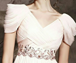 dress, kleid, and wight image