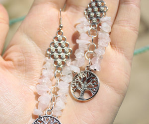 etsy, quartz crystal, and love earrings image
