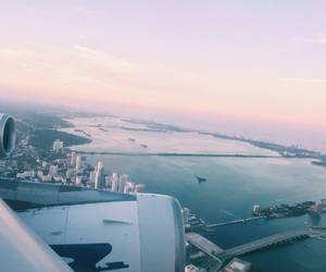 beautiful, plane, and Miami image