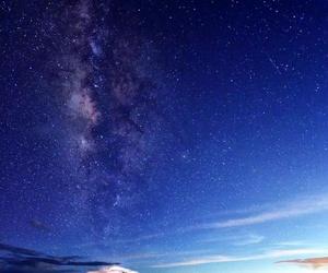 galaxy, moon, and morning image