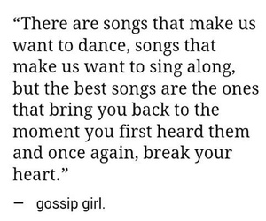 song, gossip girl, and quotes image