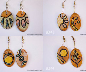 abstract, etsy, and handmade earrings image