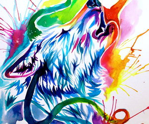Animales, belleza, and lobo image