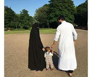 children, familly, and niqab image