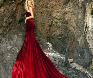 dress, red, and blonde image