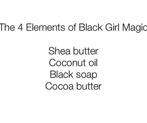 black girls, coconut oil, and shea butter image