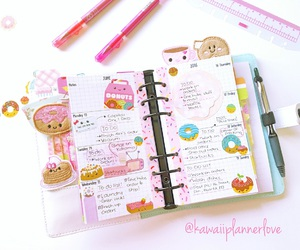 organization, cute planner, and planner addict image