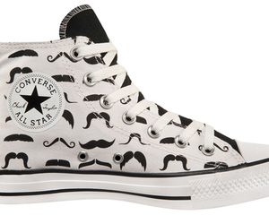 all star, moustache, and converse image