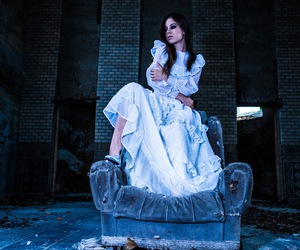 dead bride, brunette model, and alternative art image