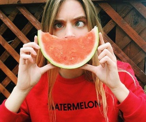 model, watermelon, and girl image