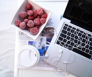 fruit, coffee, and mac image