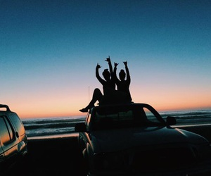 friends, beach, and goals image