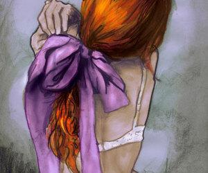 art, cute, and redhead image
