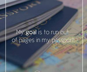 goals, passport, and travel image