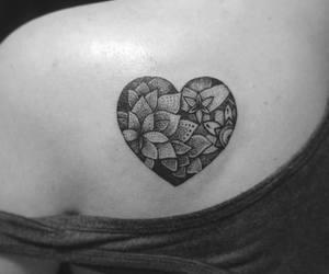 heart, tattos, and tatuajes image