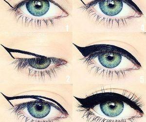 beauty, eye, and eyeliner image