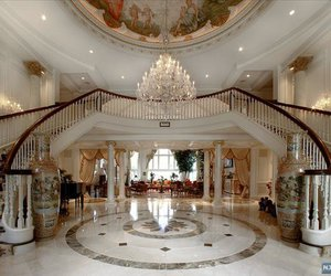 luxury, wealth, and grand entrance image