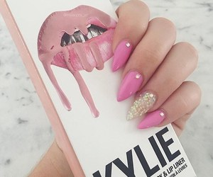 nails, pink, and kylie image