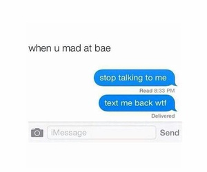 mad, bae, and text image