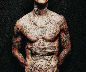 travis barker, tattoo, and blink 182 image