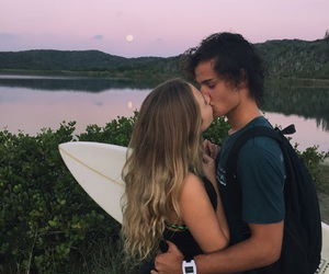 moon, surf, and boyfriends image
