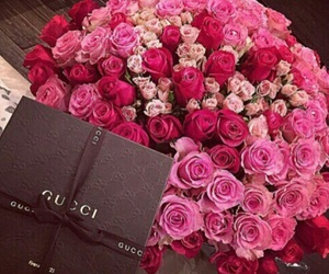 flowers, rose, and gucci image