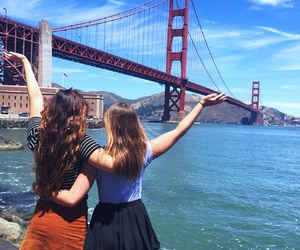 golden gate bridge, san fransisco, and summer vacation image