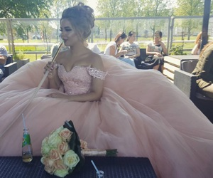 bride, dress, and shisha image