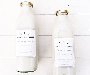 drink, white, and food image