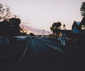boulevard, street, and sunset image