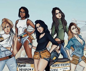 fifth harmony, work from home, and 5h image
