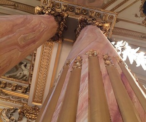 architecture, pink, and gold image
