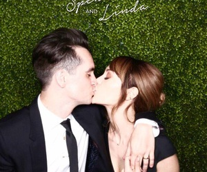 brendon urie, couple, and green image
