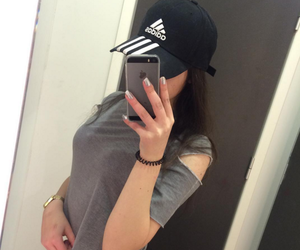 adidas, girl, and tumbler image