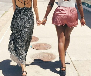 best friends, dress, and girls image