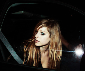 Avril, blonde, and car image